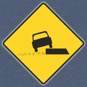 Road Sign car on board - Women's Premium T-Shirt