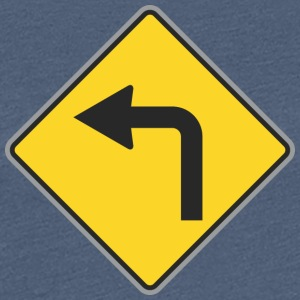 Road Sign Linksaf - Vrouwen Premium T-shirt