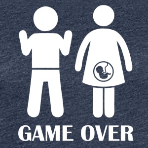 GAME OVER gravid - Premium-T-shirt dam