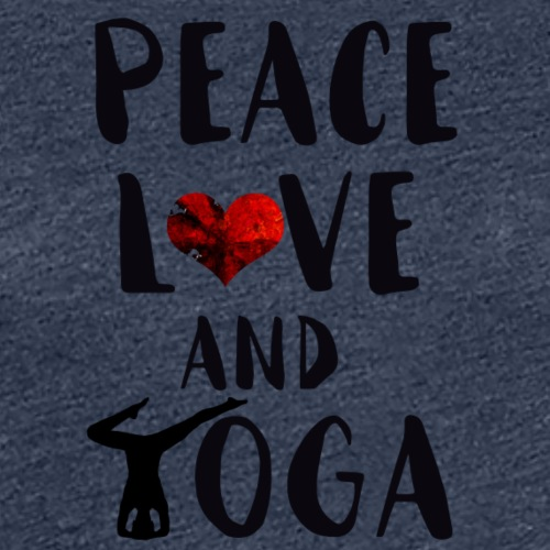 peace, love and yoga - Women's Premium T-Shirt