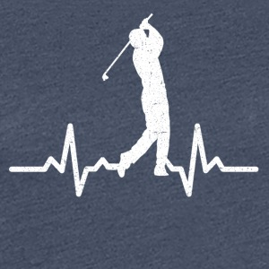 Mit hjerte banker for Golf - Dame premium T-shirt