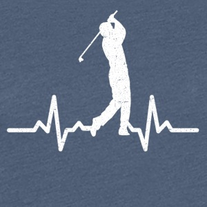 My heart beats for Golf - Women's Premium T-Shirt