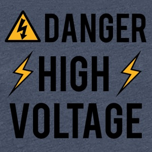 Elektriker: Fara! High Voltage! - Premium-T-shirt dam
