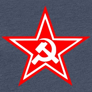 Communist red star flag - Women's Premium T-Shirt