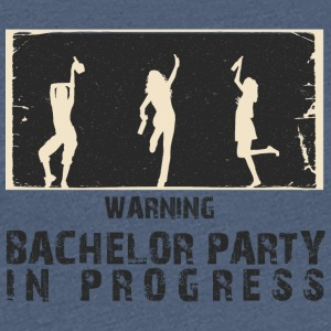 AVERTISSEMENT - BACHELOR PARTY IN PROGRESS - T-shirt Premium Femme