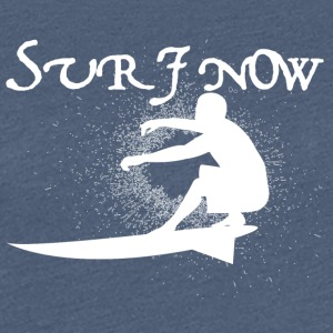 surf now 3 white - Women's Premium T-Shirt