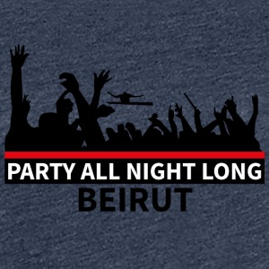 Party All Night Long Beirut - Dame premium T-shirt