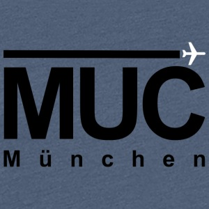 MUC Black - Frauen Premium T-Shirt