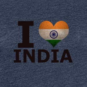I LOVE INDIA FLAG - Premium T-skjorte for kvinner
