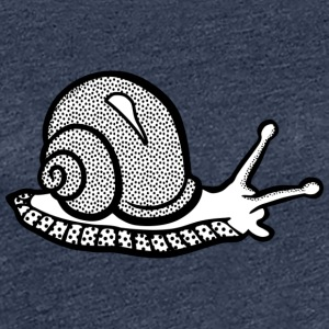 Snail black and withe - Women's Premium T-Shirt