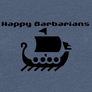 Happy Bárbaros - Viking Ship Logo - Camiseta premium mujer