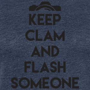 Keep calm to flash someone! - Women's Premium T-Shirt