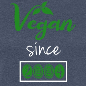 Vegan sedan 2004 - Premium-T-shirt dam