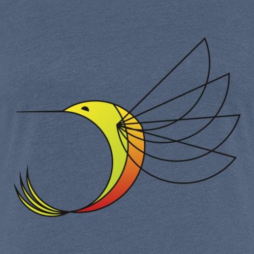kolibri oder Eisvogel signet oder Logo - Frauen Premium T-Shirt