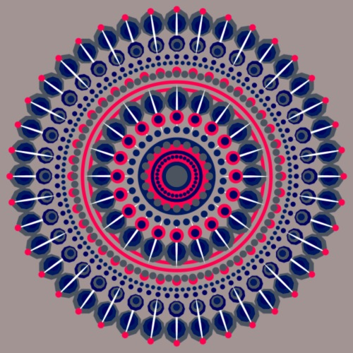 Mandala couleur - T-shirt Premium Femme