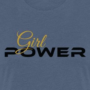 Girl Power schwarz gold - Frauen Premium T-Shirt