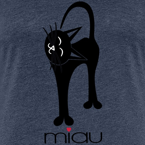 Katze - liebevoll miau - Frauen Premium T-Shirt