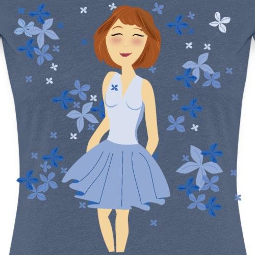 Fille de fleur - T-shirt Premium Femme