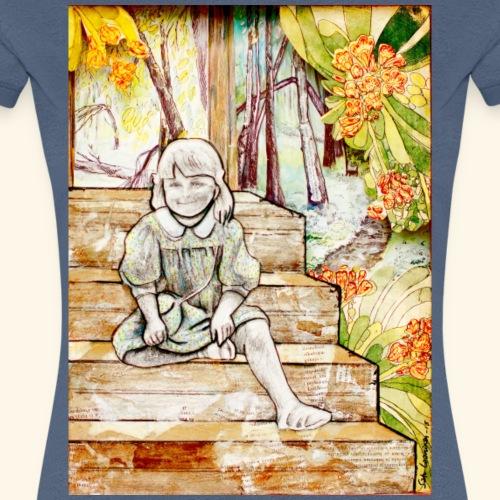 Girl on stairs - Naisten premium t-paita