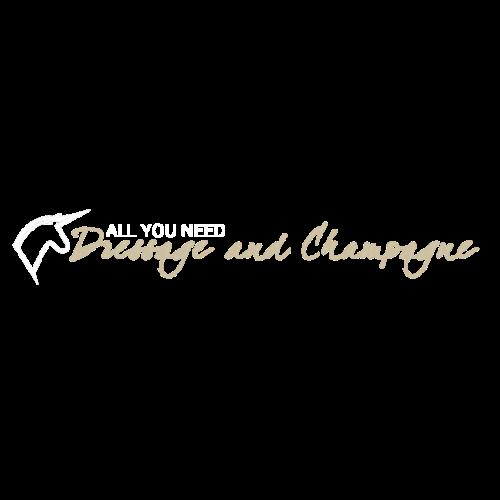 Dressage & Champagne - Frauen Premium T-Shirt