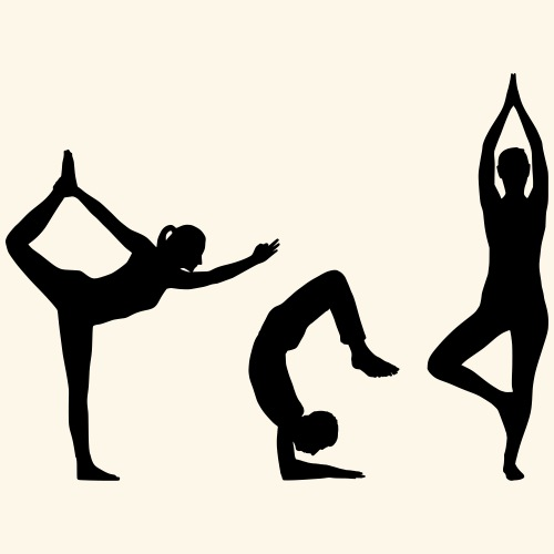 3 Yoga - T-shirt Premium Femme