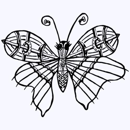Schmetterling schwarz