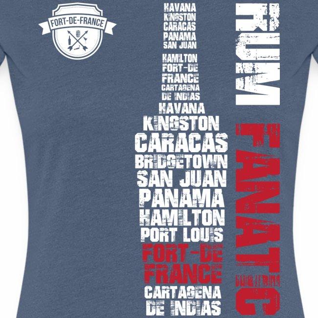 T-shirt Rum Fanatic - Fort-de-France, Martynika