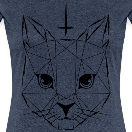Geometrische Katze 02 - Frauen Premium T-Shirt