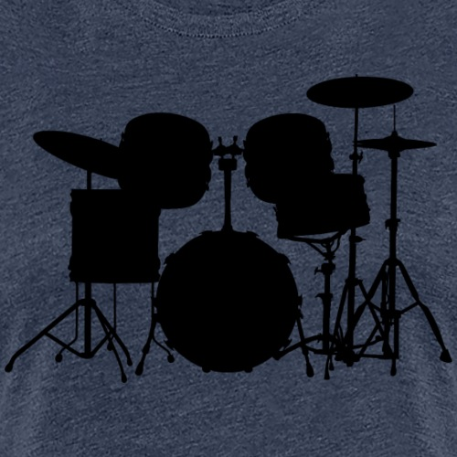 Drumset 1 Kontur schwarz - Frauen Premium T-Shirt