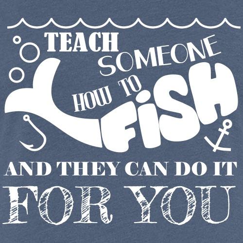 Fishing - Vrouwen Premium T-shirt