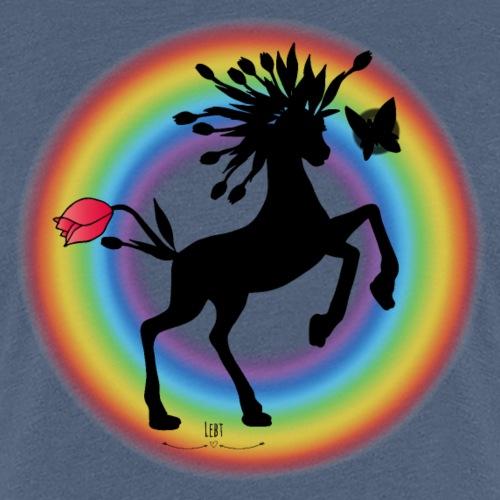 Flosgus- ein magisches Pferd - Frauen Premium T-Shirt