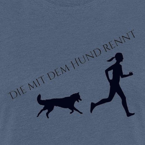 Hunde Jogging - Frauen Premium T-Shirt