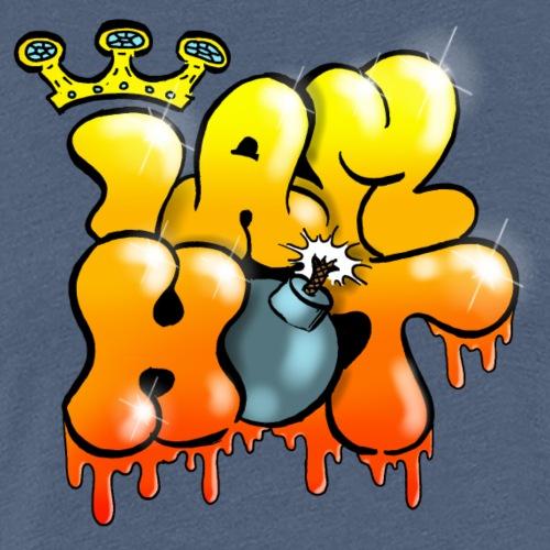 I Am hot Graffiti King liquid letter - T-shirt Premium Femme