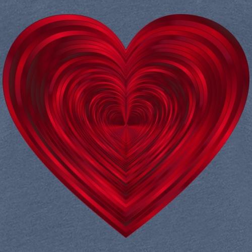 Love Heart Print T-shirt design - Women's Premium T-Shirt
