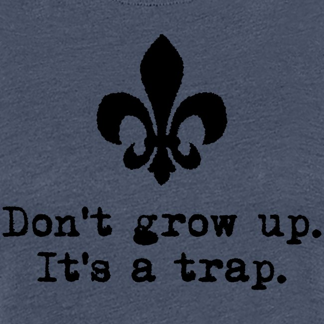 Don't grow up… mit krickeliger Lilie Typewriter