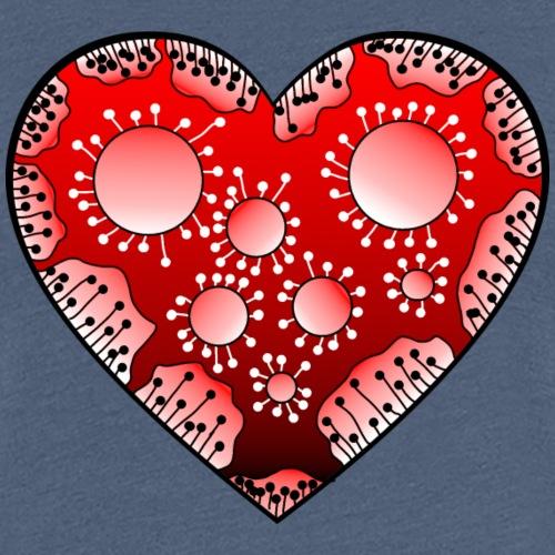Herz in rot - Frauen Premium T-Shirt