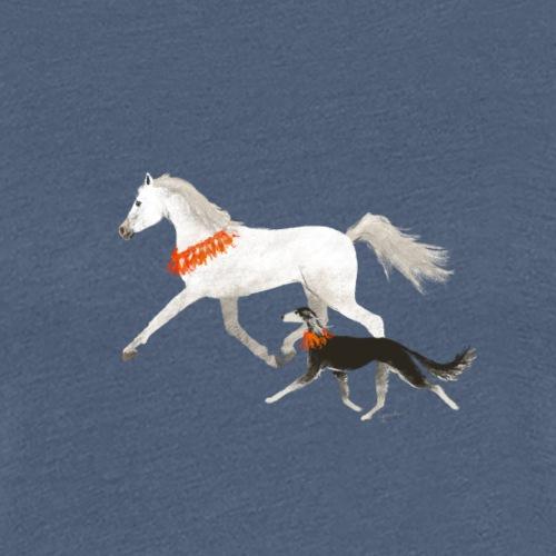 Saluki und Pferd - Frauen Premium T-Shirt