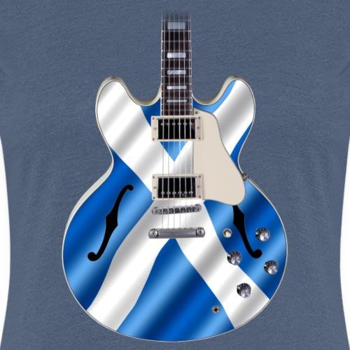 Saltire Guitar - Women's Premium T-Shirt