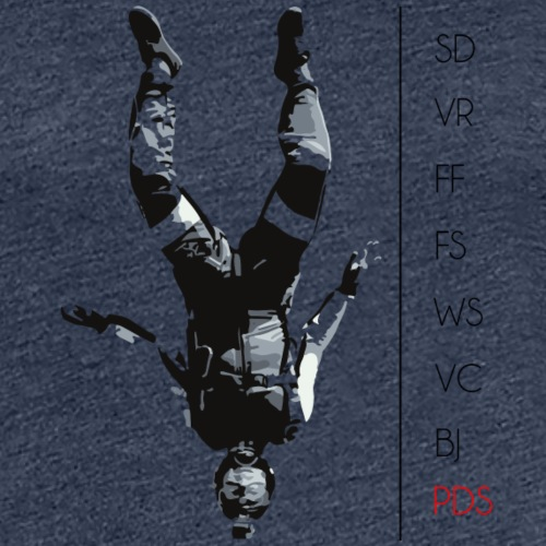 Skydive parachutiste - T-shirt Premium Femme