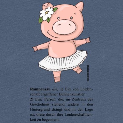Rampensau - tanzend (Girls) - Frauen Premium T-Shirt