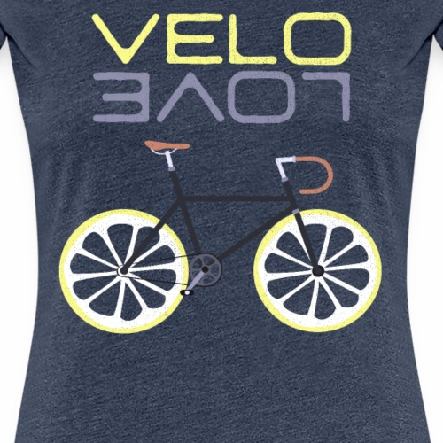Lemon Bike - Velo Love Shirt Rennradfahrer Shirt - Frauen Premium T-Shirt