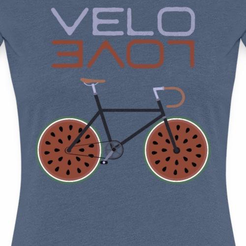 Melonen Bike Shirt Velo Love Shirt Rennrad Shirt - Frauen Premium T-Shirt