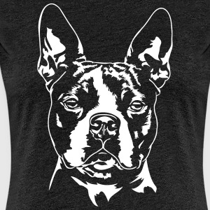 BOSTONTERRIER - Premium-T-shirt dam