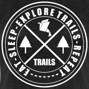LIFESTYLE CIRCLE OF TRAILS - Women's Premium T-Shirt