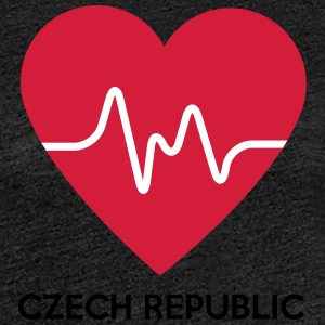Herz Czech Republic - Frauen Premium T-Shirt