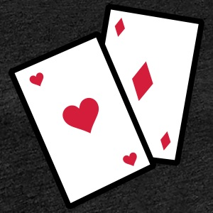 Gambling Poker Cards - Women's Premium T-Shirt