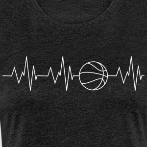 Heartbeat Basketball - Frauen Premium T-Shirt