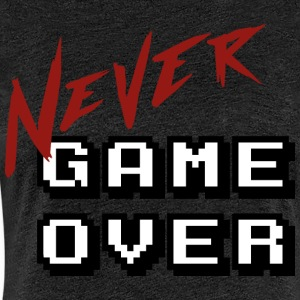 Big_Never_game_Over_white - Premium T-skjorte for kvinner