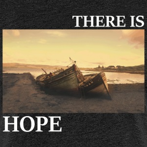 There_is_hope_picture_white_letters - Women's Premium T-Shirt