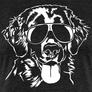 Flat Coated Retriever Cool - Dame premium T-shirt